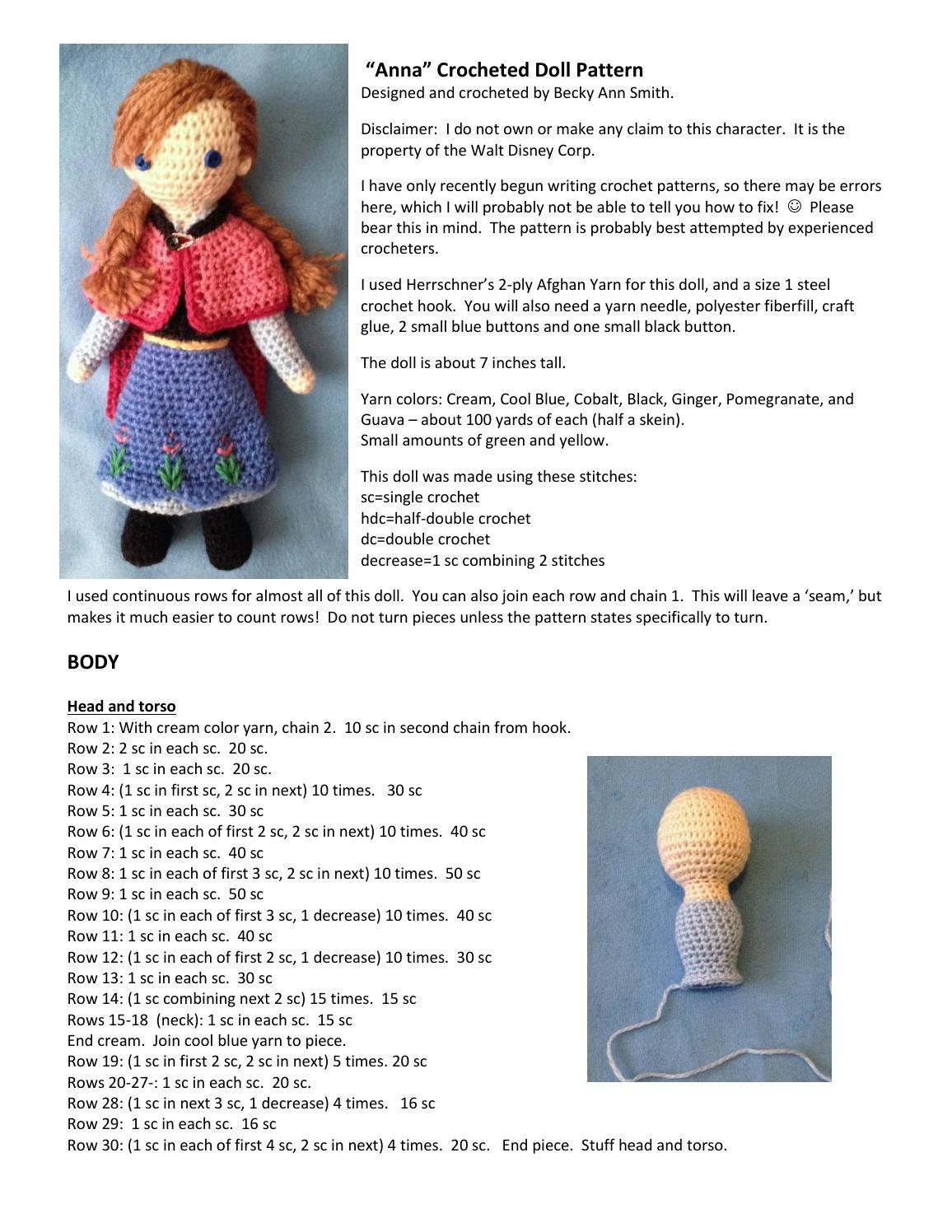 Anna crocheted doll pattern by yoli - issuu