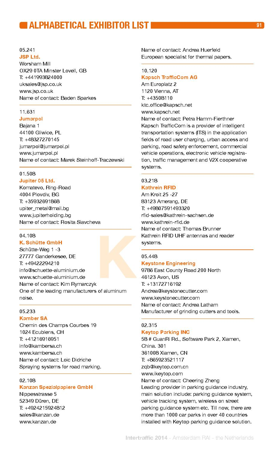 Intertraffic 2014 catalogue