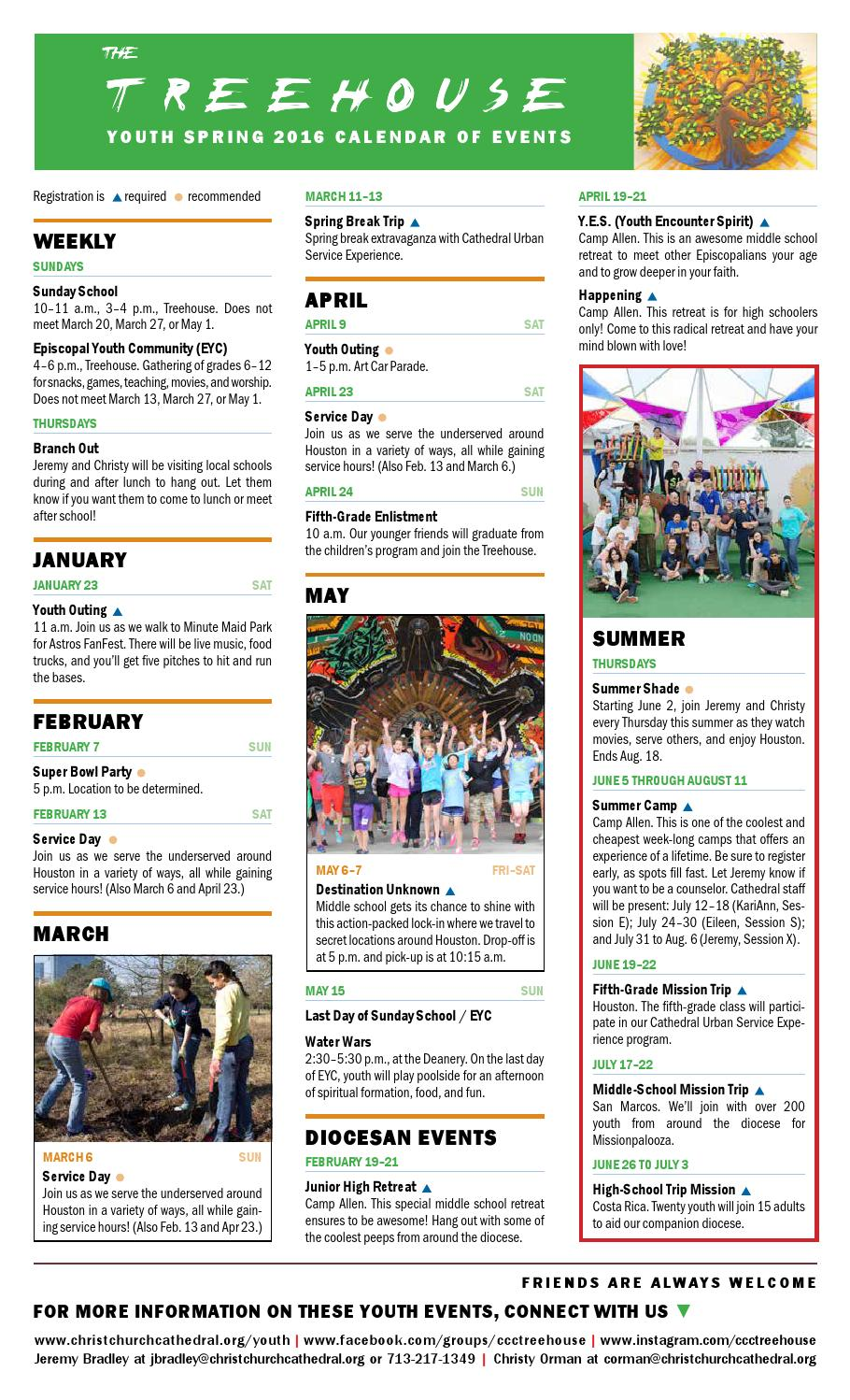 Spring 2016 Calendar of Events by Christ Church Cathedral - issuu