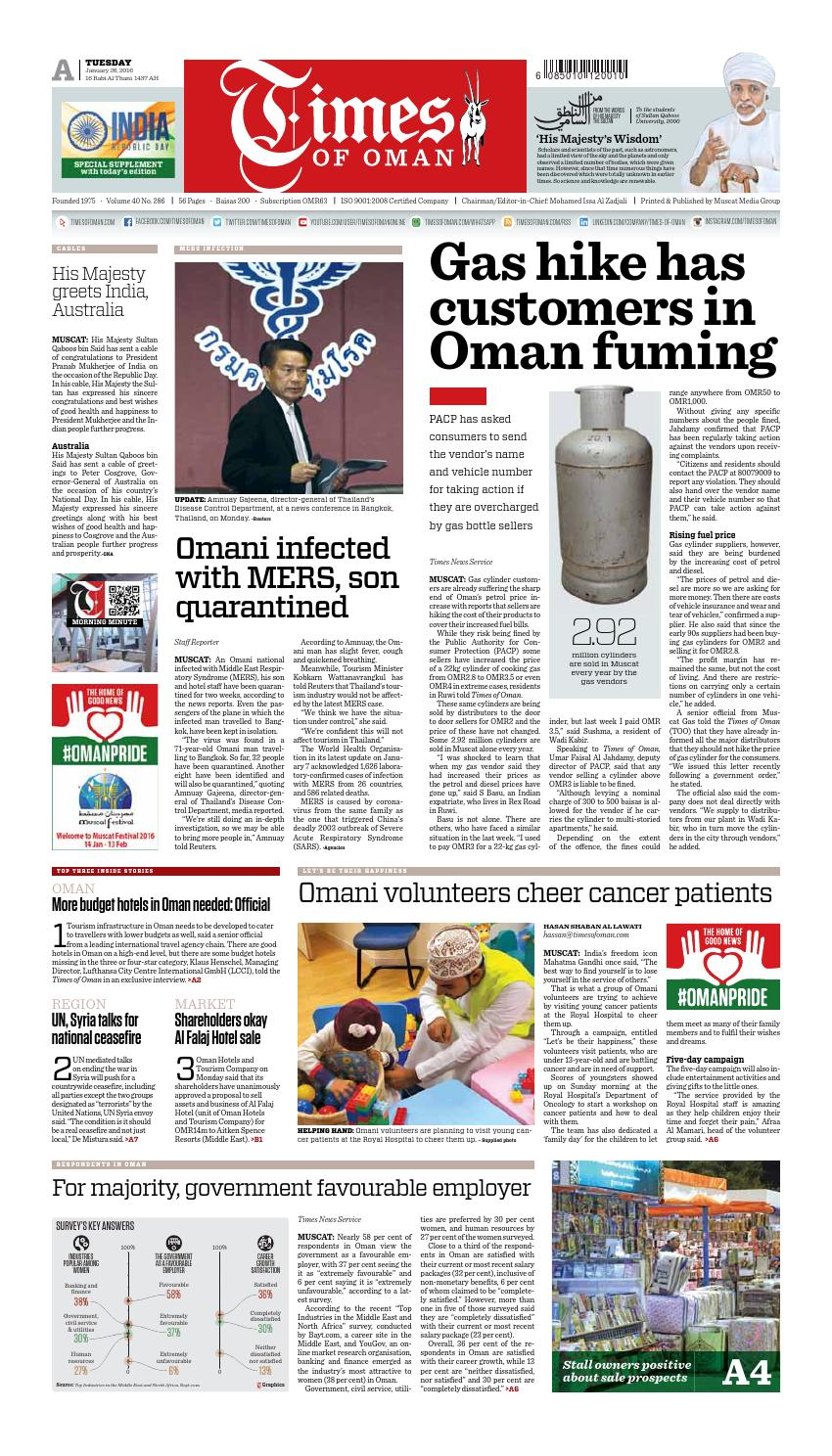 Times of Oman - January 26, 2016 by Muscat Media Group - issuu