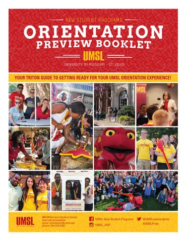 Umsl Orientation Preview Booklet 2016 By Umsl New Student Programs