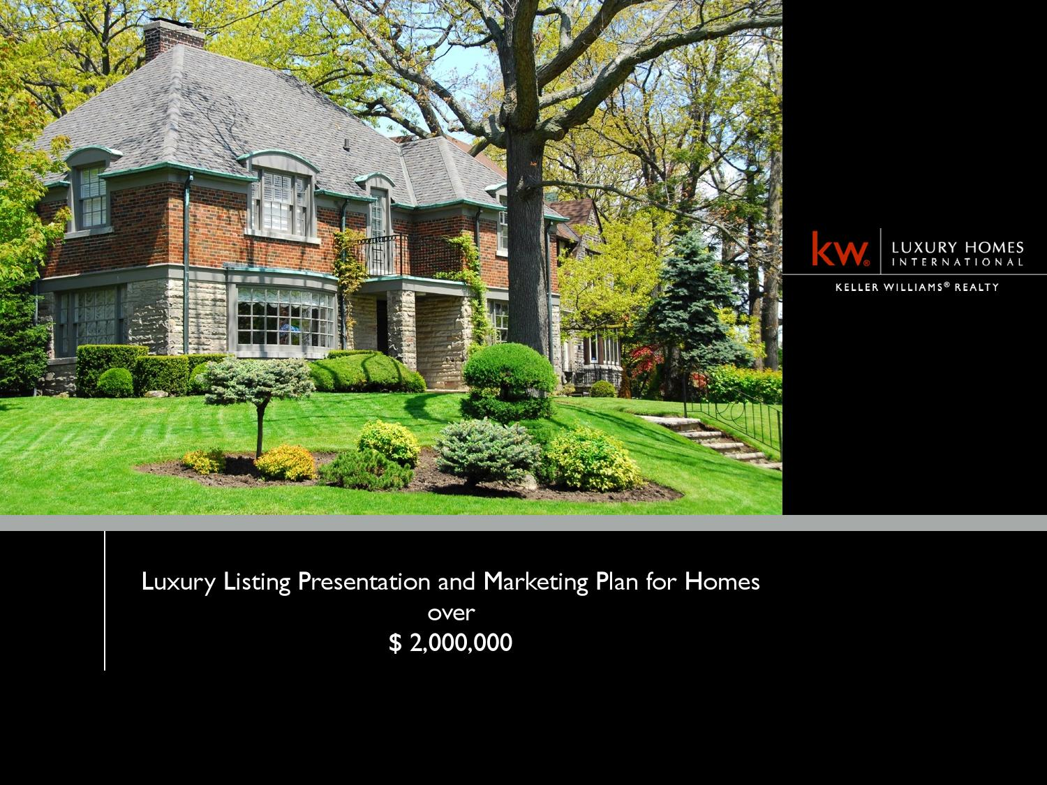 Marketing plan for listing a home