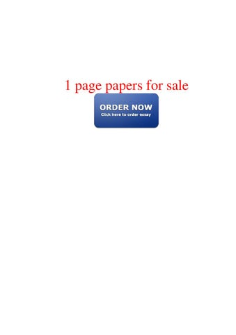 1 page papers for sale