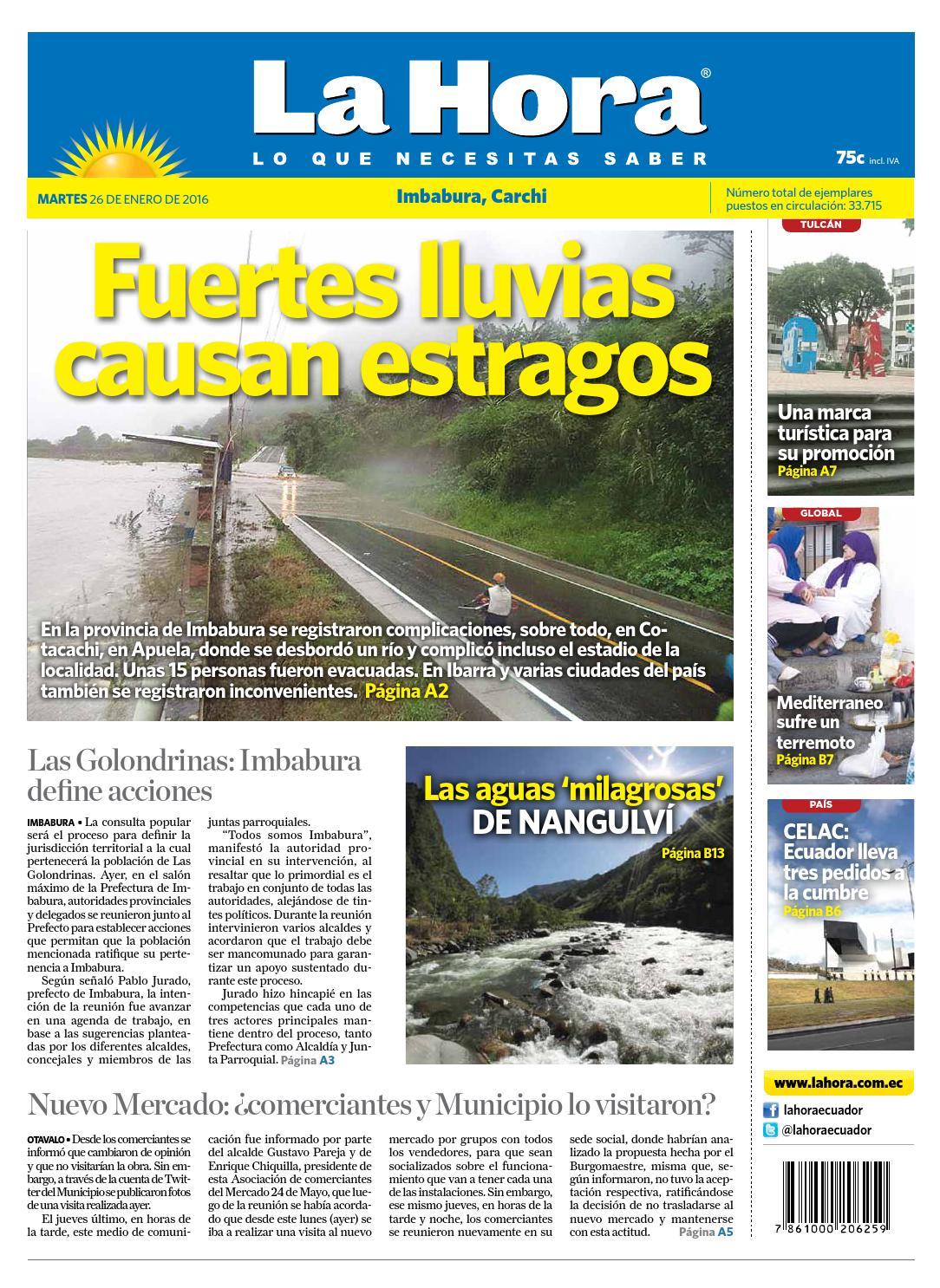 gaviones decorativos 2016 02 economicos de el mercurio bin Imbabura 26 enero 2016 by Diario La Hora Ecuador - issuu