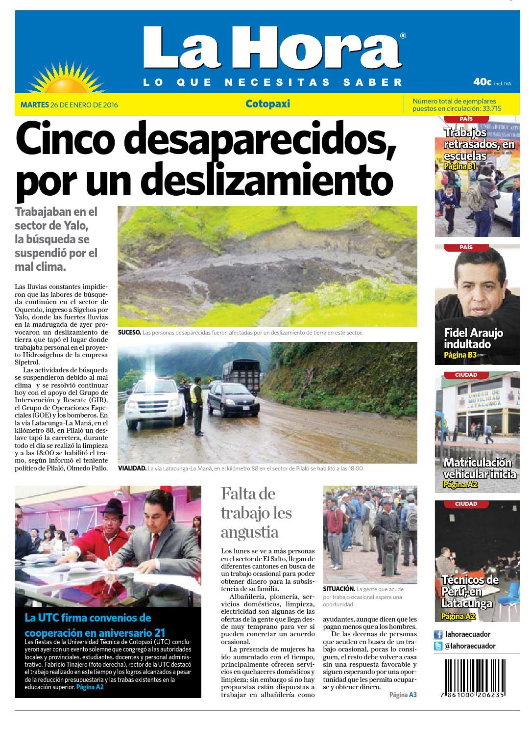 gaviones decorativos 2016 02 economicos de el mercurio bin Cotopaxi 26 enero 2016 by Diario La Hora Ecuador - issuu