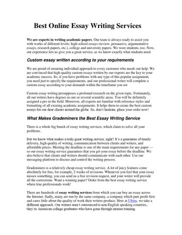 How To Write A Perfect Essay By Muress  Issuu Best Online Essay Writing Services We Are Experts In Writing Academic  Papers Our Team Is Always Ready To Assist You With Works Of Different  Levels  Essay On High School Experience also Example Thesis Statement Essay  Essay Samples For High School