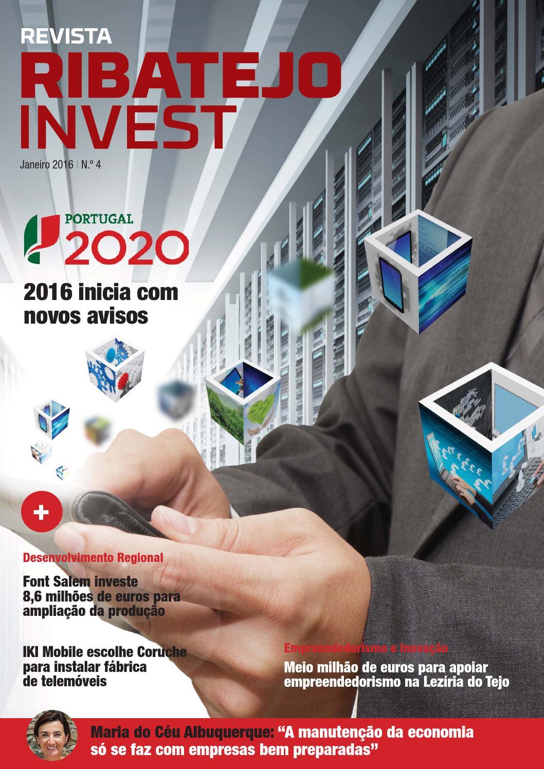 Revista Ribatejo Invest   janeiro 2016 by NERSANT Associação Empresarial -  issuu 75f1203c021