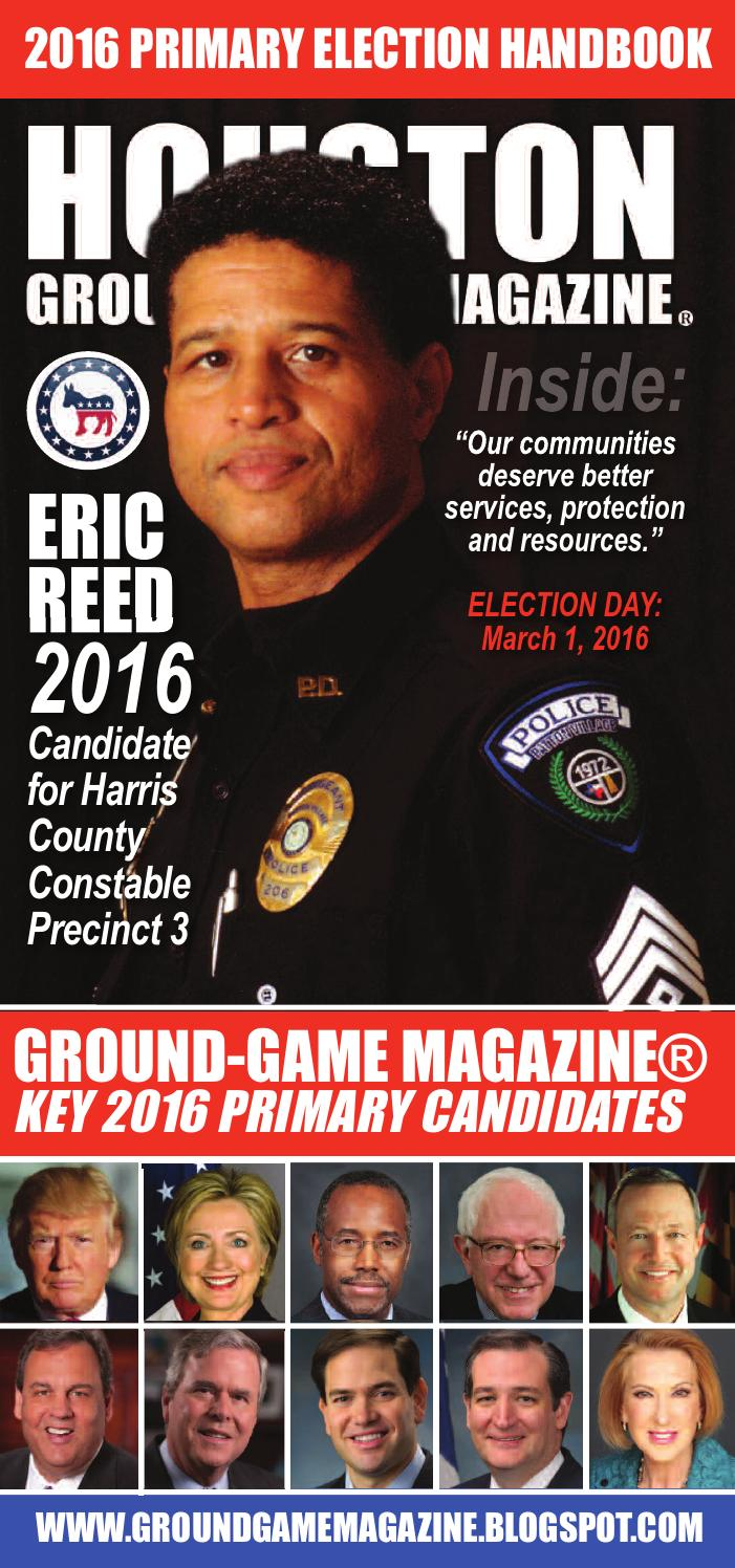 District judge 174th judicial district - Ground Game Magazine Volume 1 No 29 Featuring Eric Reed For Harris County Constable Precinct 3 By Aubrey R Taylor Communications Issuu