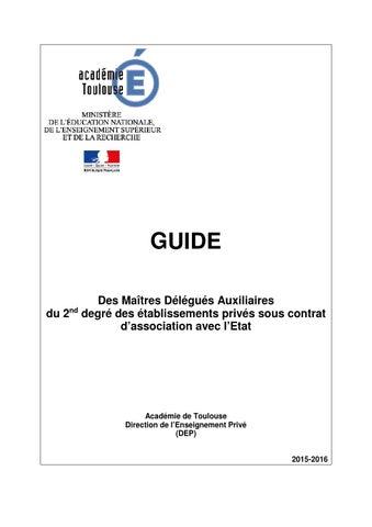 Guide Des Maitres Auxiliaires Du Second Degre By Academie De
