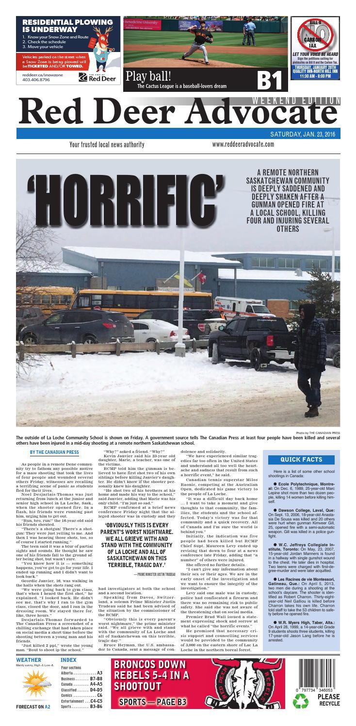 Red Deer Advocate, January 23, 2016 by Black Press Media