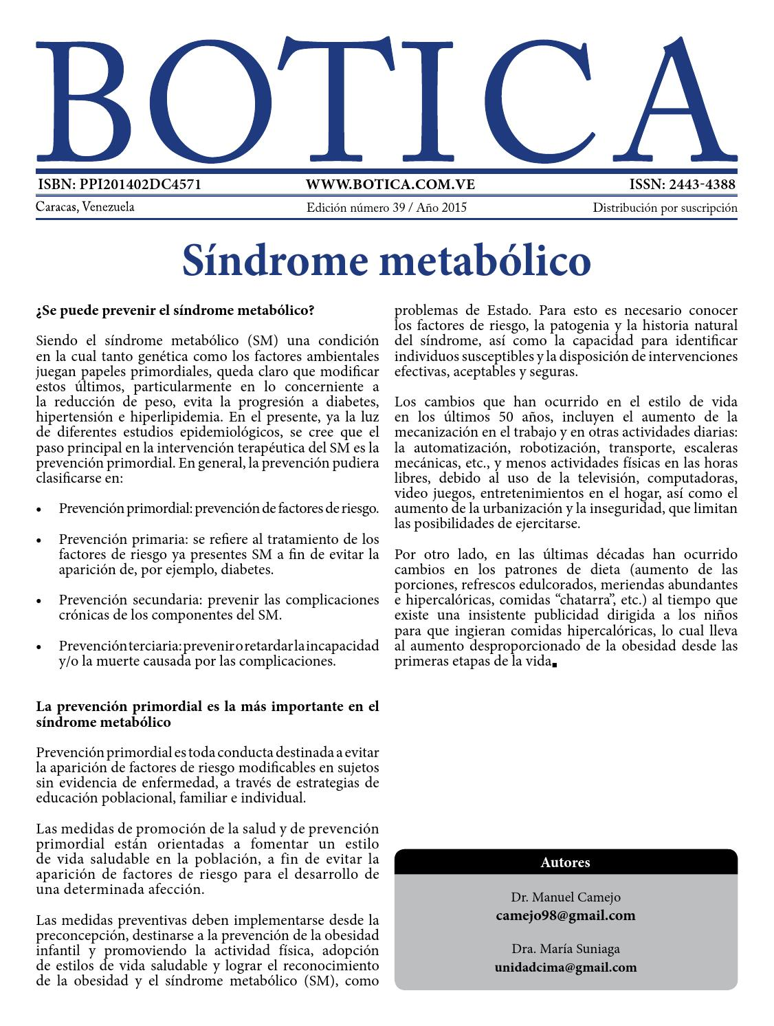 Revista Botica número 39 by Revista médica Botica - issuu