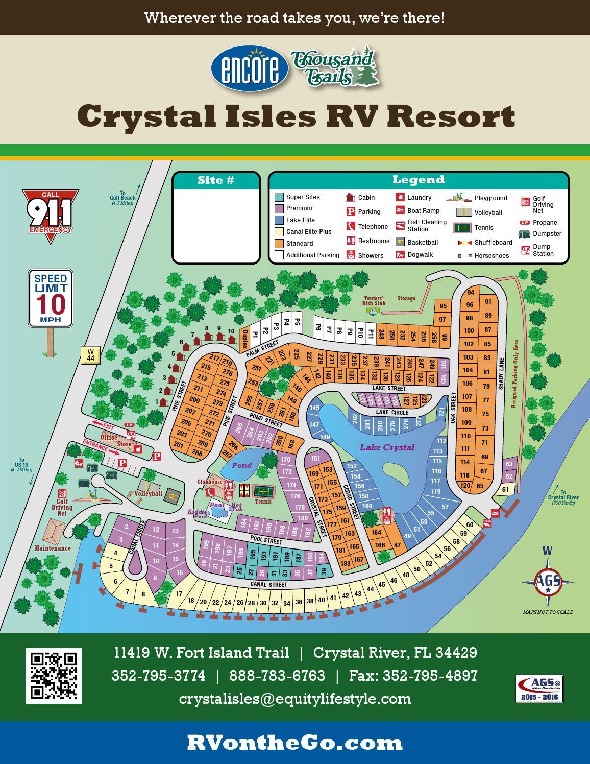 Crystal Isles RV Resort By AGSTexas Advertising Issuu - Florida map crystal river