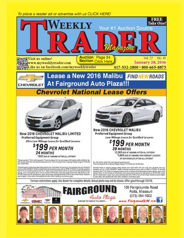 Weekly trader january 28 2016 by weekly trader issuu page 1 fandeluxe Images