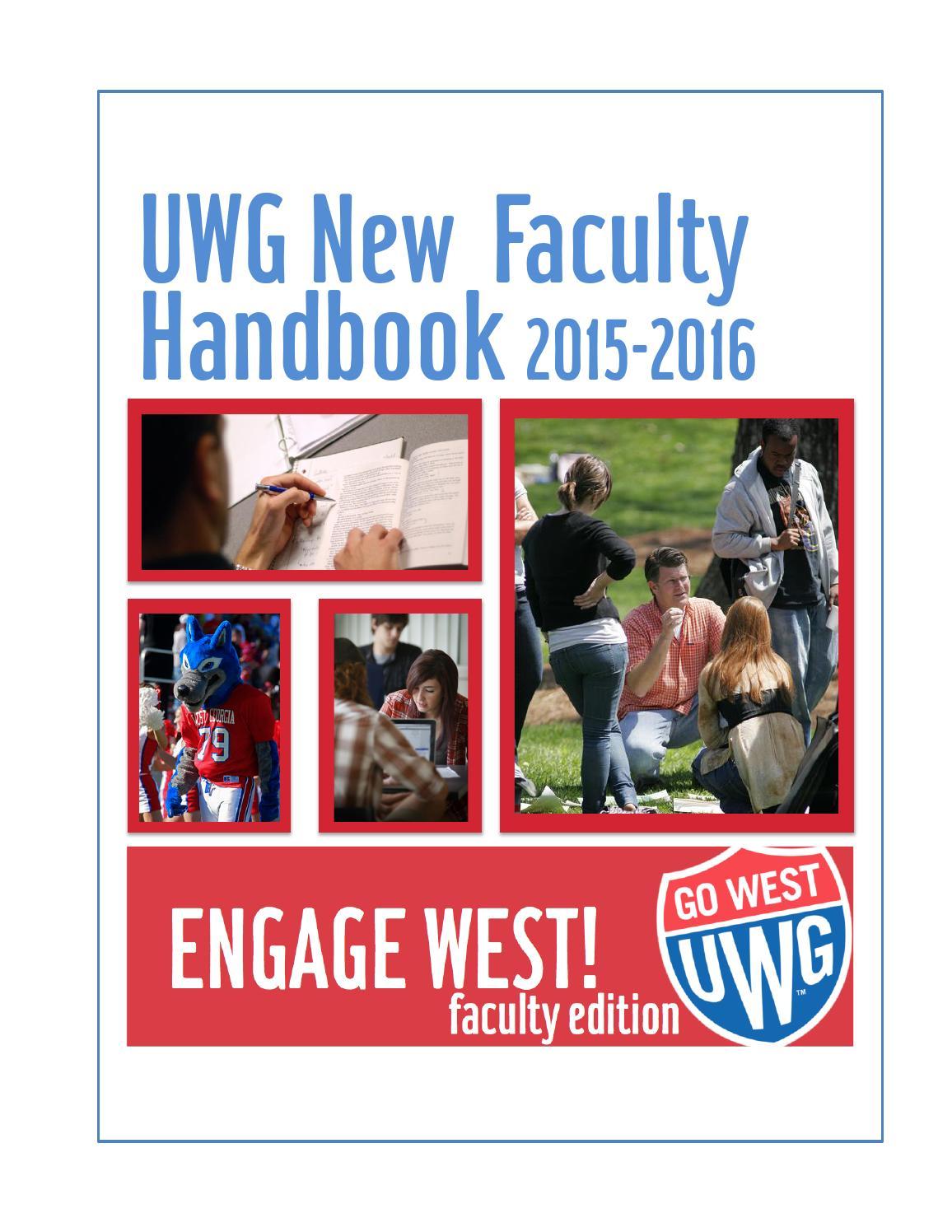 ferpa form uwg  New Faculty Handbook 7-7 by Cher Hendricks - issuu