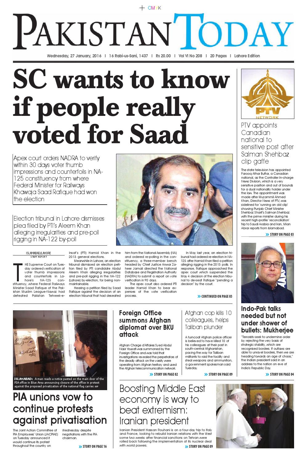 E paper pdf (28 01 2016) lhr by Pakistan Today - issuu