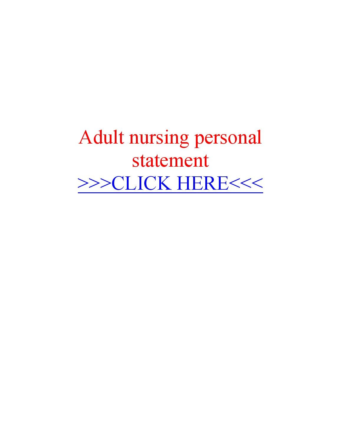 adult nursing personal statement by essay writer service