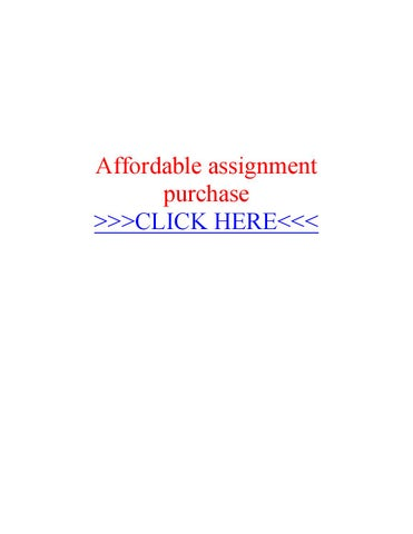 Affordable assignment purchase