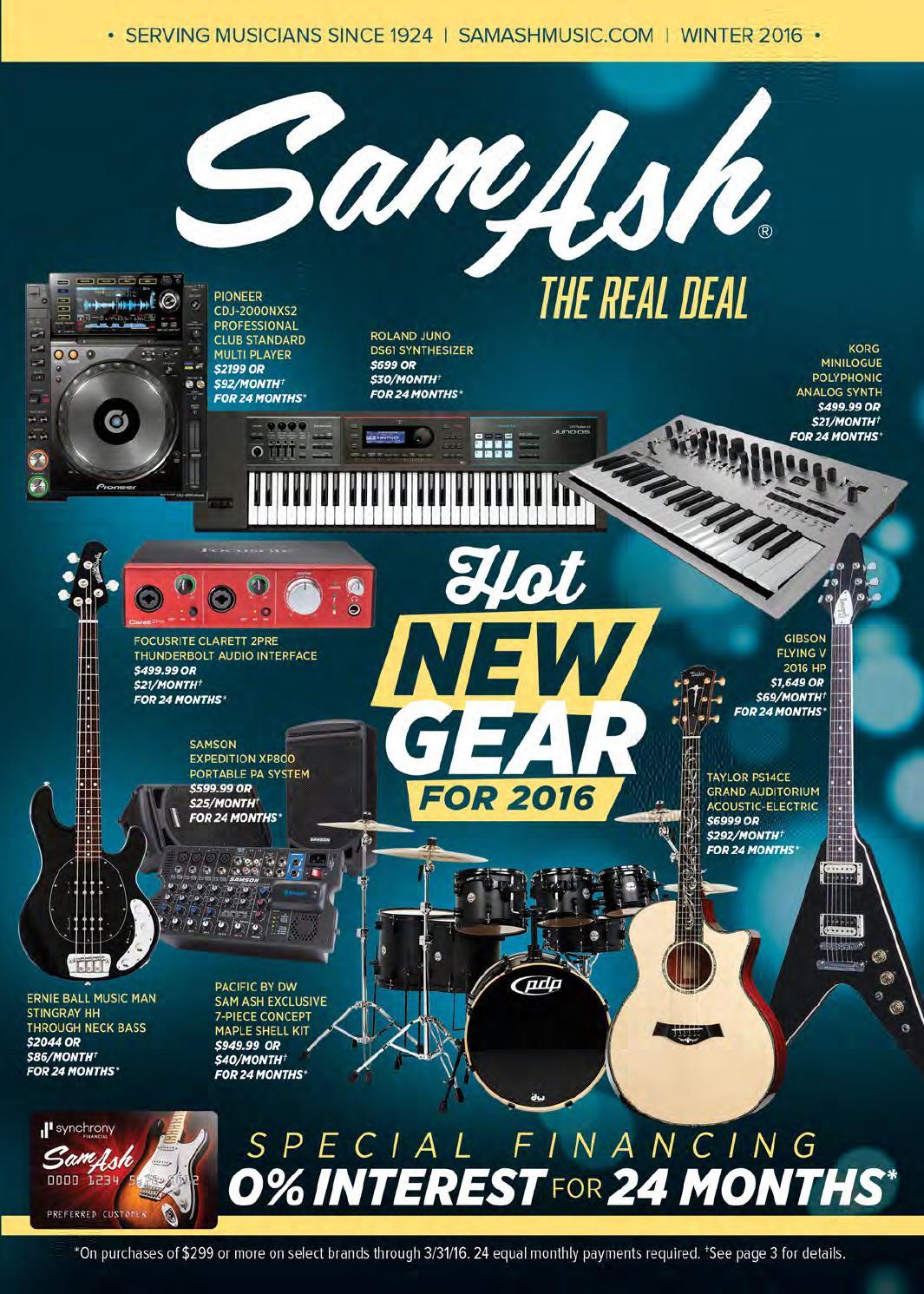 Winter 2016 Gear Guide By Sam Ash Music Corp Issuu Ev Mic Wiring Diagram D767