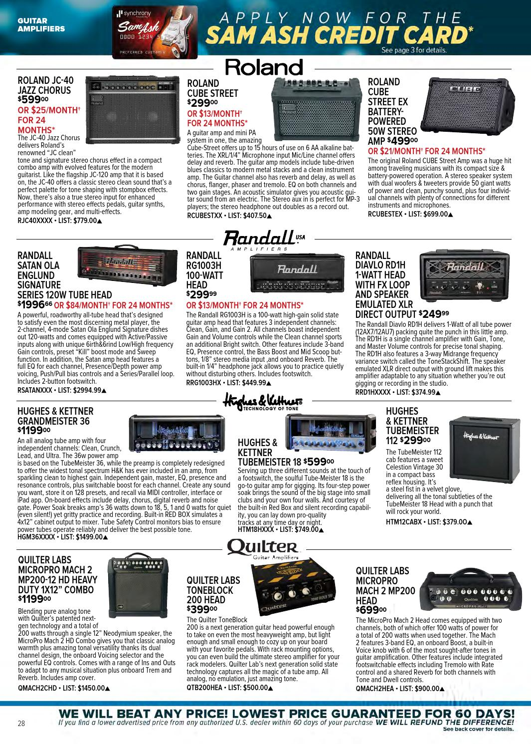Winter 2016 Gear Guide by Sam Ash Music Corp  - issuu