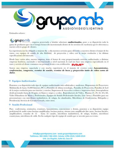 Grupo mb propuesta by Grupomb - issuu