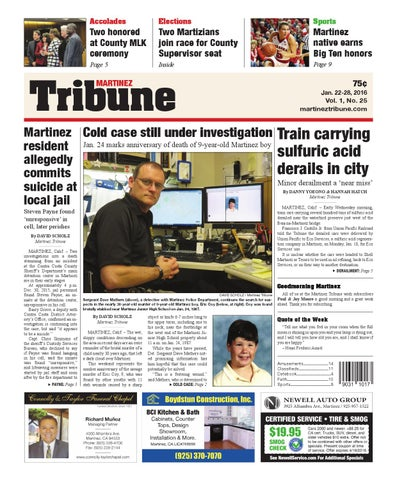 Jan  22-28, 2016, Martinez Tribune by Martinez Tribune - issuu