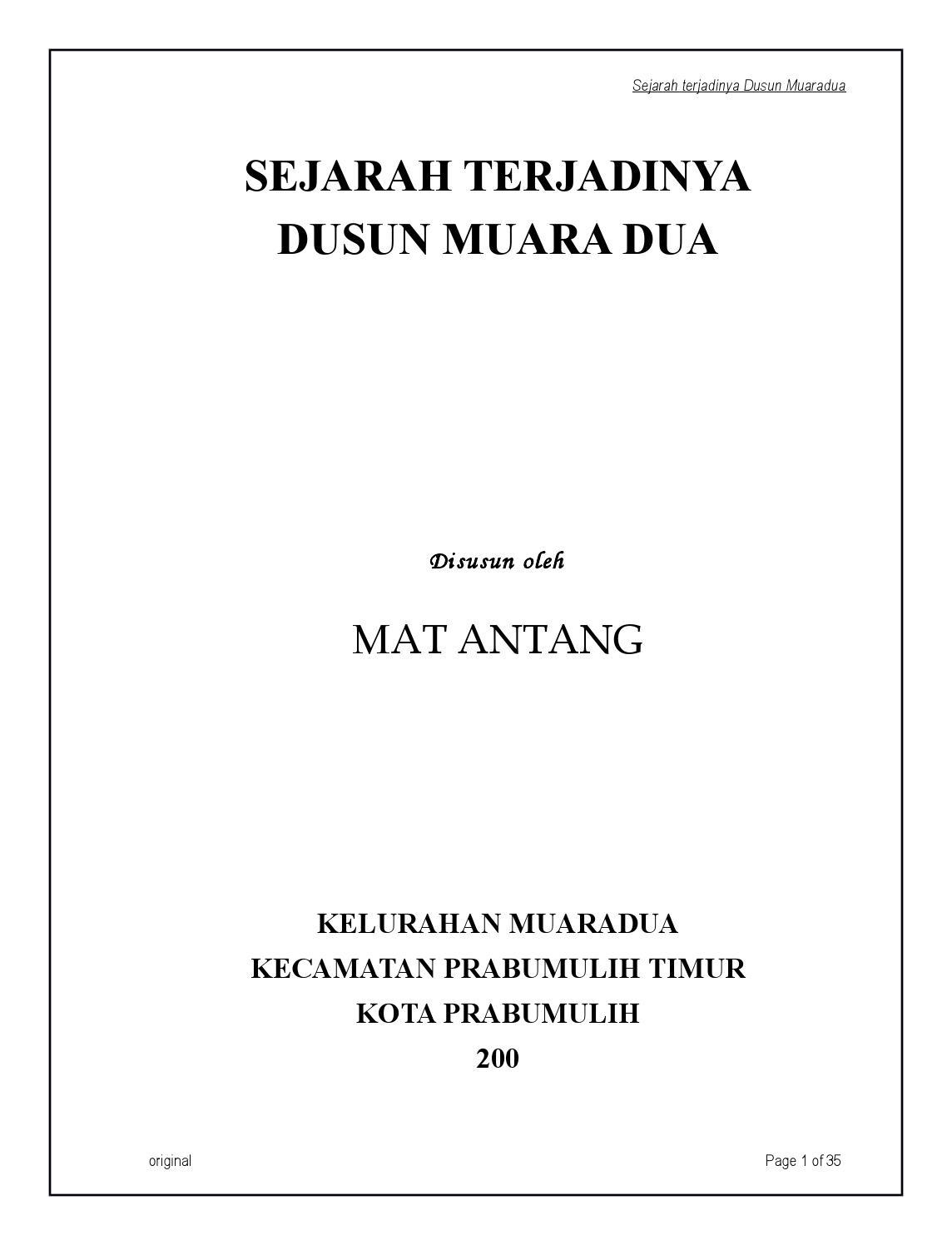 Sejarah Muara Dua Rambang By Orbansyah Johar Issuu