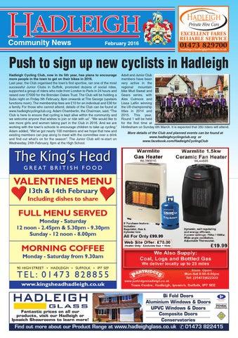 e21ca70075357 Hadleigh Community News, February 2016 by Keith Avis Printers - issuu