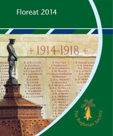 c61a54e110a3 E-Floreat 2014 by Rugbeian Society - issuu