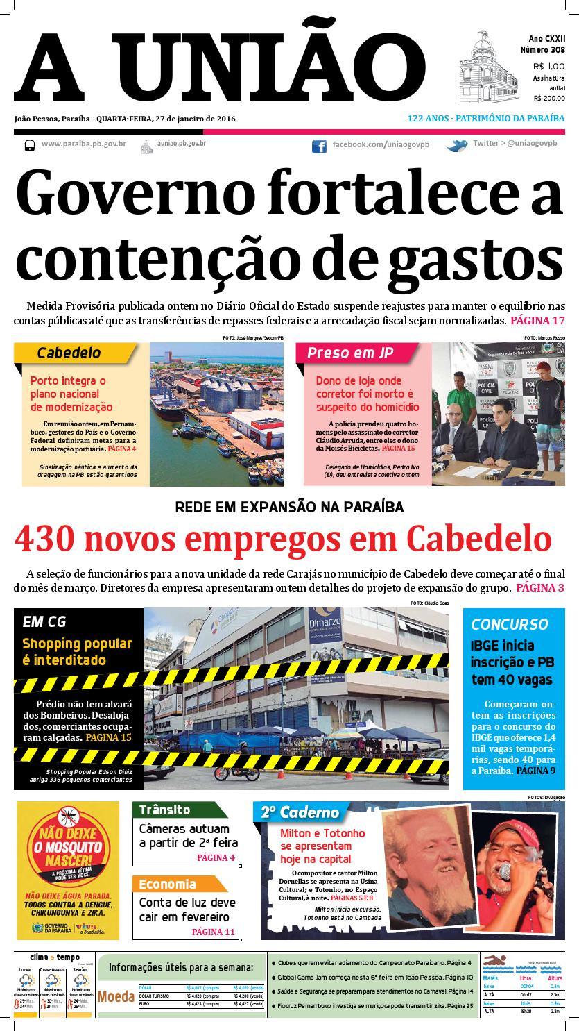 e236b66446 Jornal A União 27 01 16 by Jornal A União - issuu
