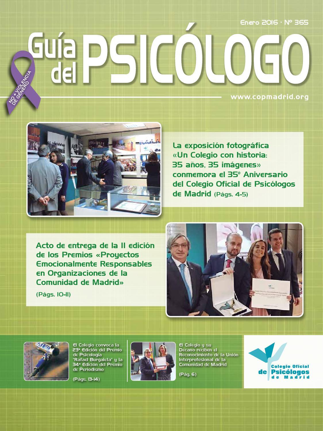 Guía del Psicólogo mes Enero 2016 by Colegio Oficial de Psicólogos ...