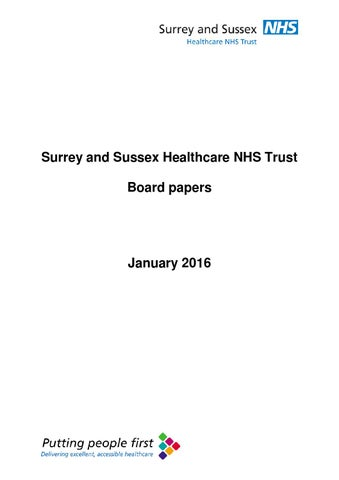 board papers january 2016 by surrey and sussex healthcare nhs trust