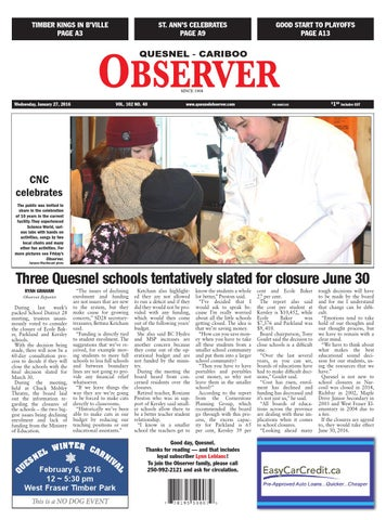 Quesnel cariboo observer january 27 2016 by black press issuu page 1 fandeluxe Gallery