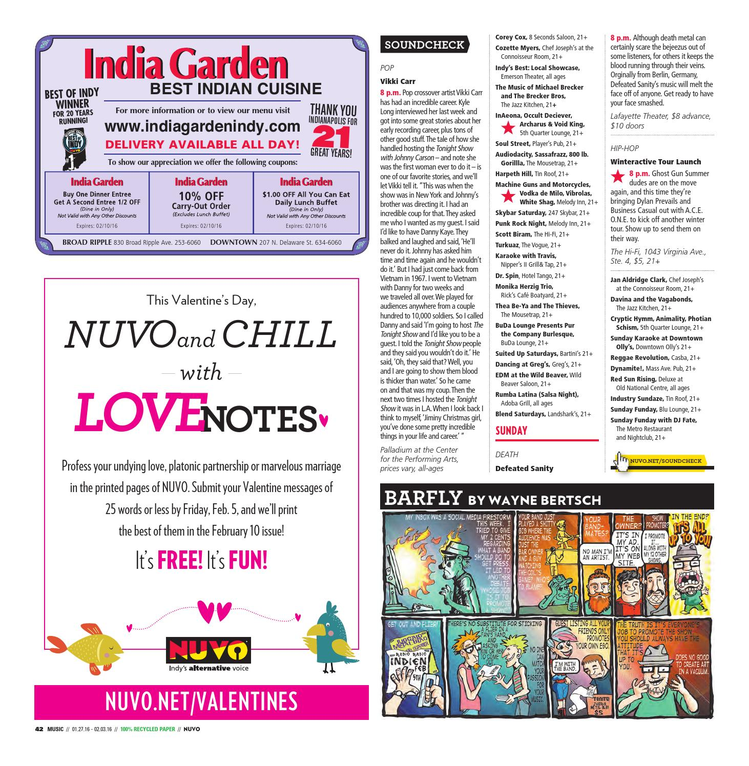 Nuvo Indy 39 S Alternative Voice January 27 2016 By Nuvo