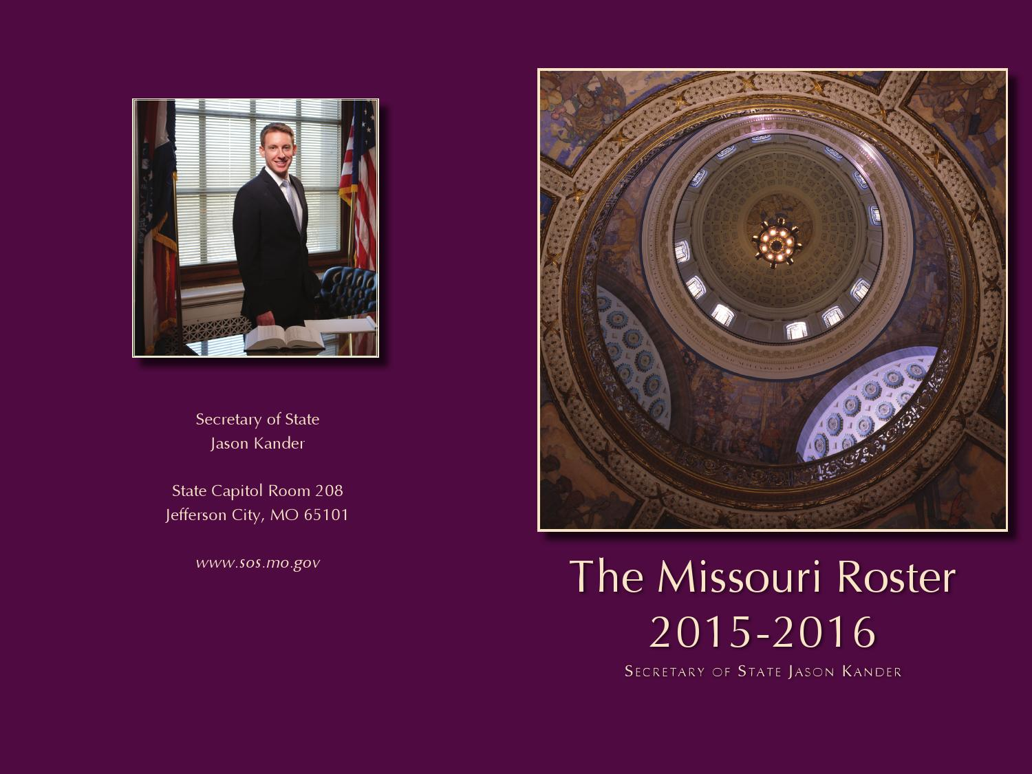 Missouri legislative roster 2015 2016 by Deb Powers - Issuu