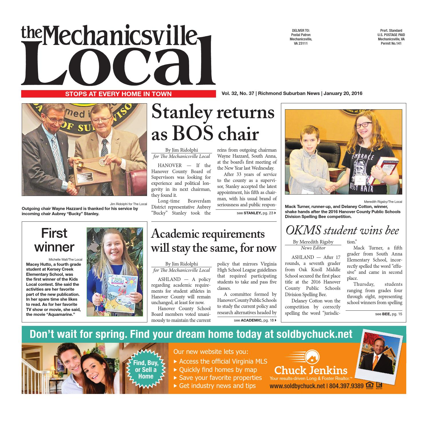 01/20/2016 by The Mechanicsville Local - issuu
