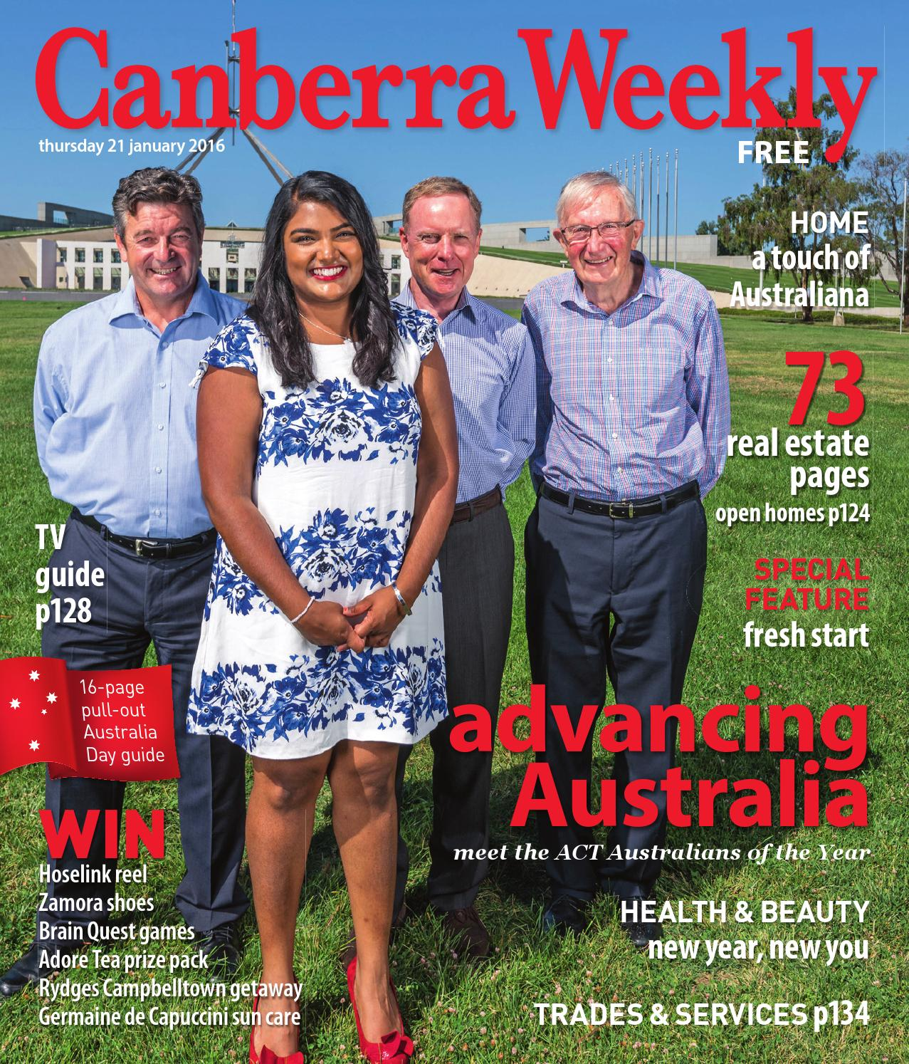 e755147d210 21 January 2016 by Canberra Weekly Magazine - issuu