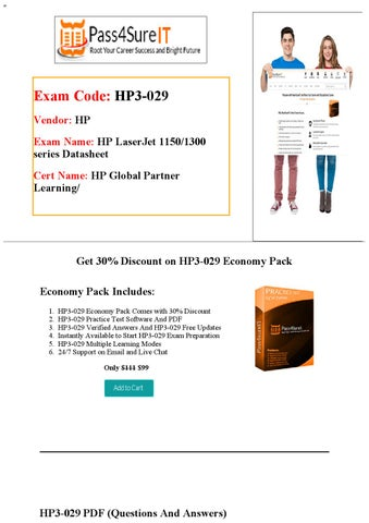 Pass4Sure HP3-029 Exam Questions by William - issuu