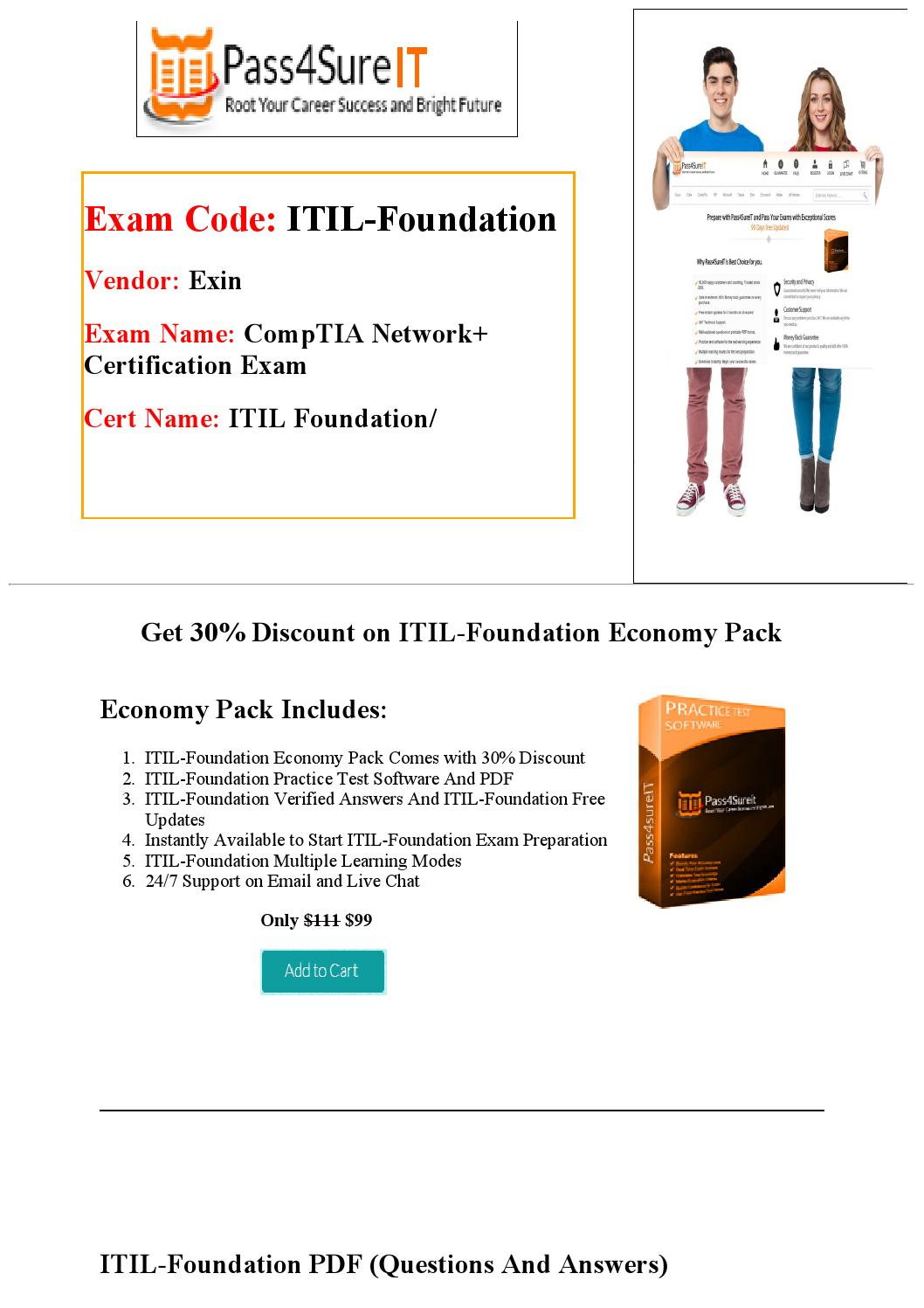 Pass4sure Itilfoundation Exam Questions By William Issuu