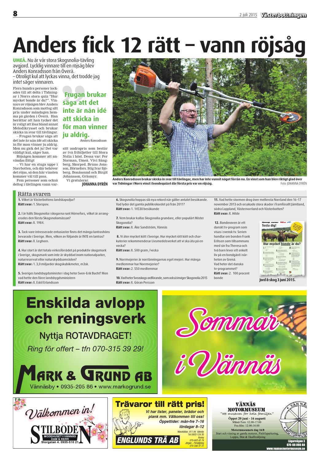 cabc9af7 Vn sommar 27 15 by Tidningar i Norr AB - issuu