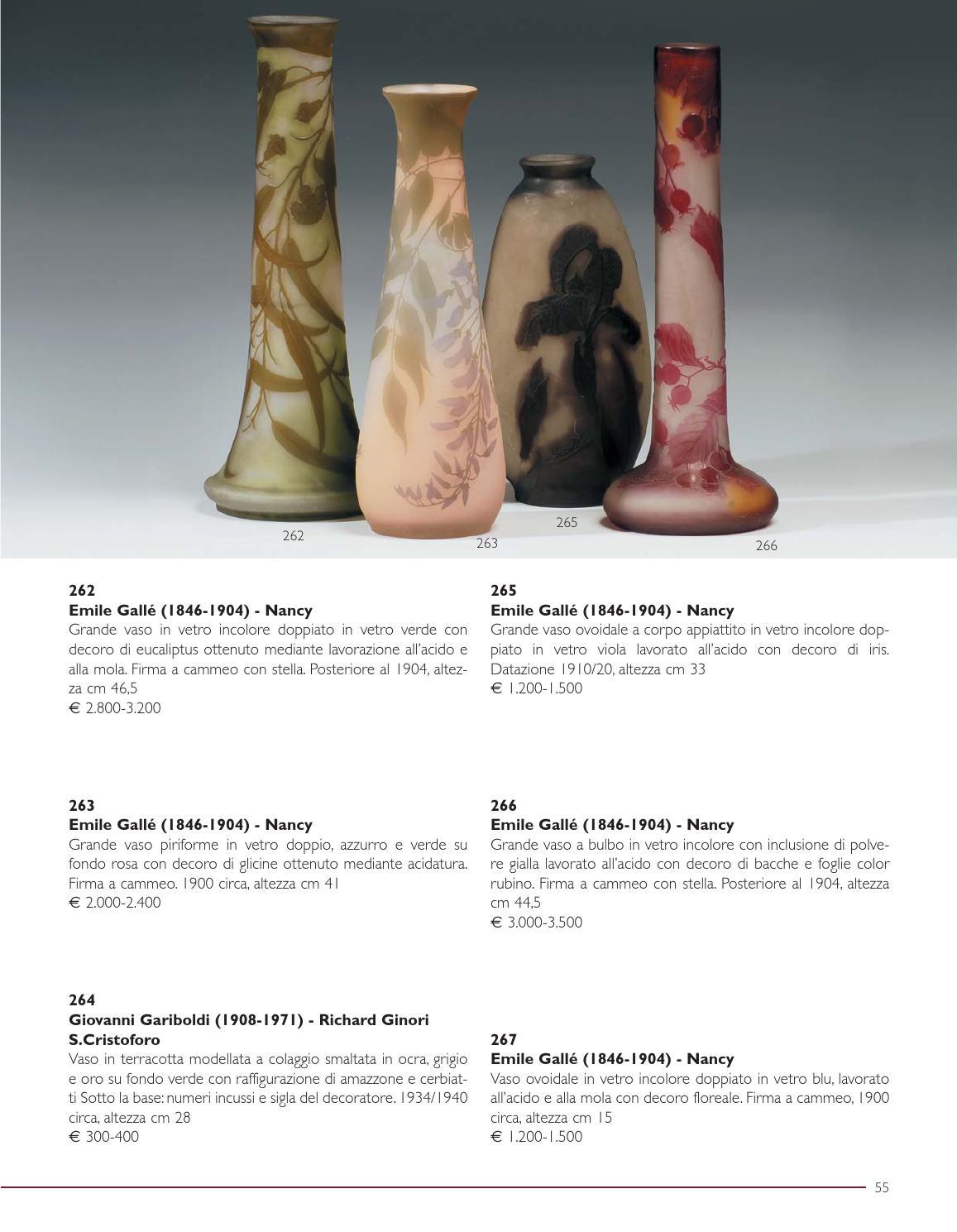 vasi di vetro datazione