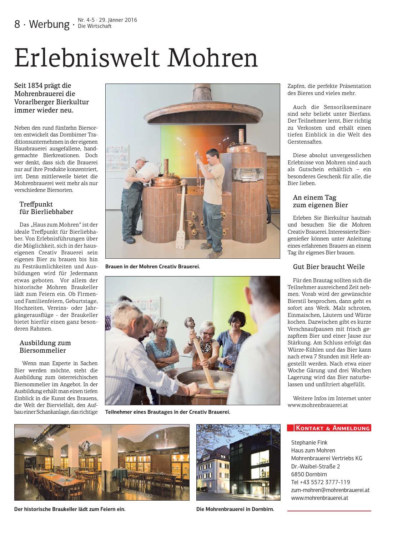 Die Wirtschaft Nr 4 5 29 Jänner 2016 By