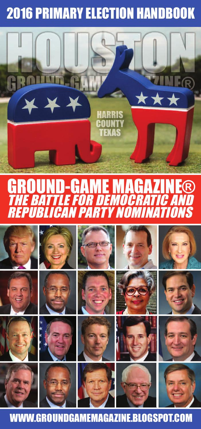District judge 174th judicial district - Ground Game Magazine Vol 1 No 31 2016 Harris County Democratic And Republican Primary Candidates By Aubrey R Taylor Communications Issuu