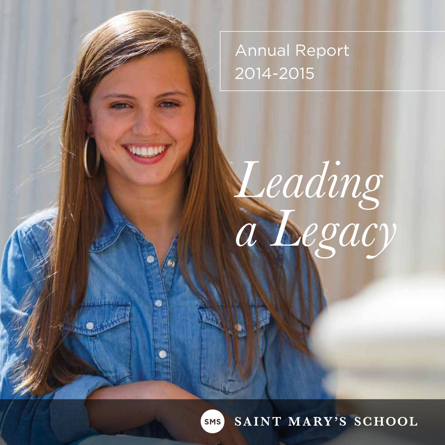 saint marys annual report 20142015 by saint marys