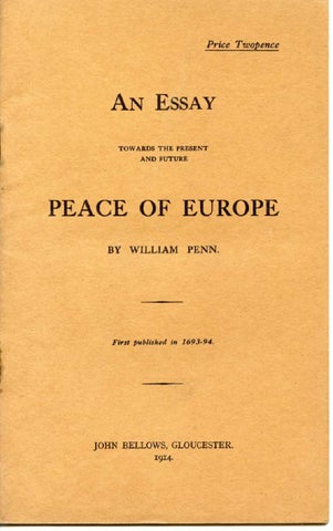 an essay towards the present and future peace of europe by marx page 1