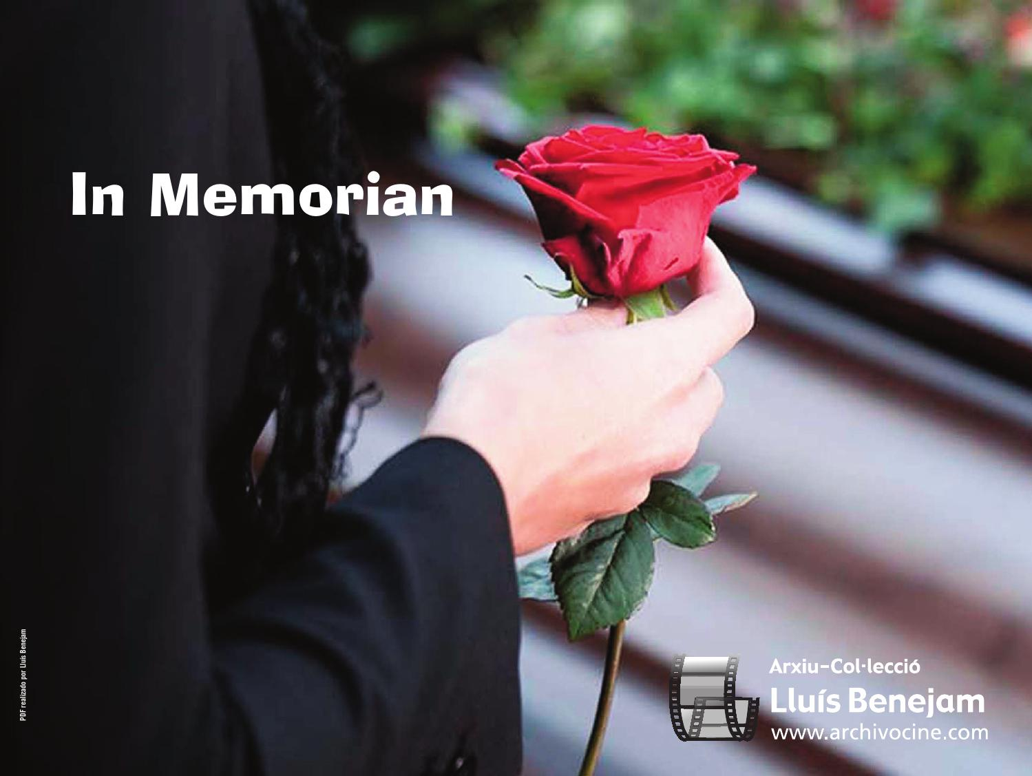 Artistas De Memoriam Cine In Cine De In Artistas 4AR5jL