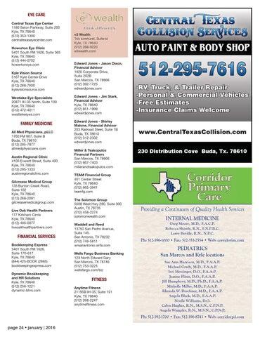 EYE CARE Central Texas Eye Center 1180 Seton Parkway Suite 200 Kyle TX 78640 512 353 1300 Centraltexaseyecenter Howerton Clinic 5401 South FM