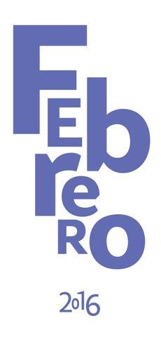 Cartelera Cultural Febrero 2016 By Redes Cultura Issuu