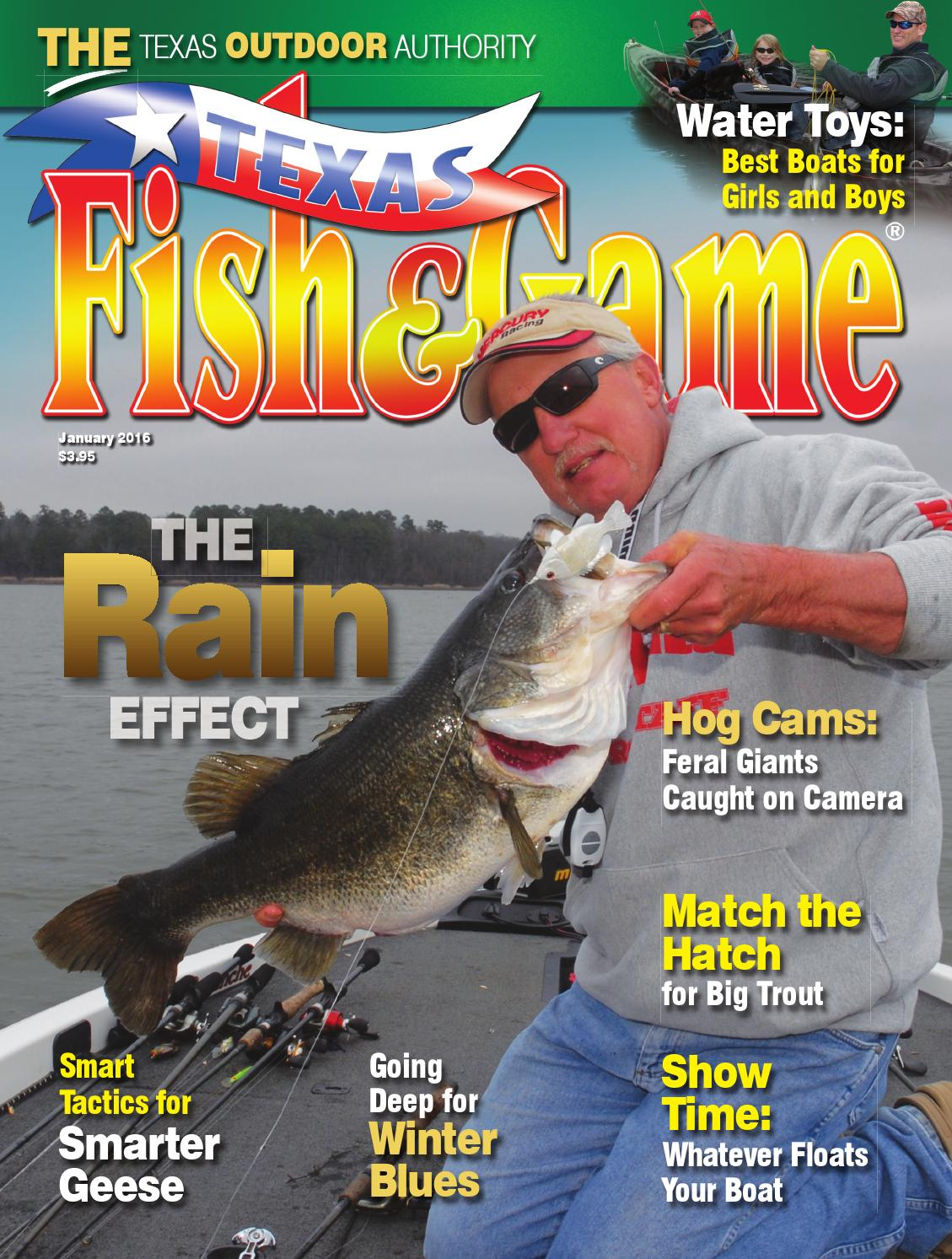 Texas fish game january 2016 by texas fishing and for Texas game and fish