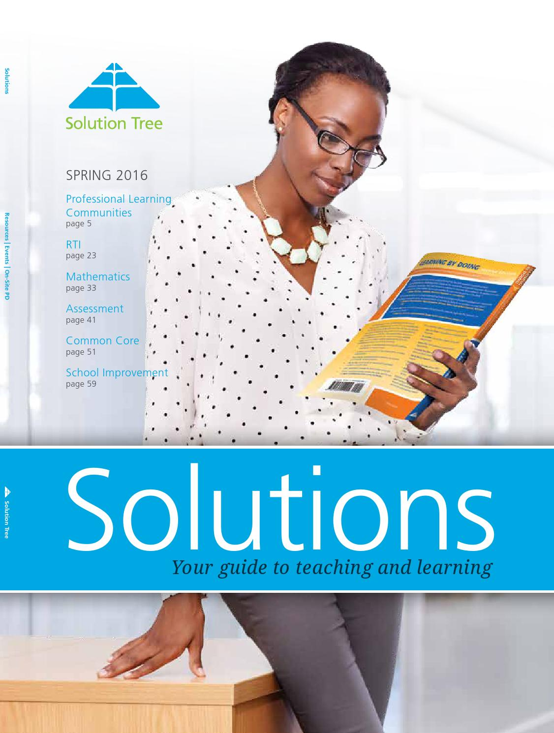 2016 Spring Comprehensive Catalog by Solution Tree - issuu