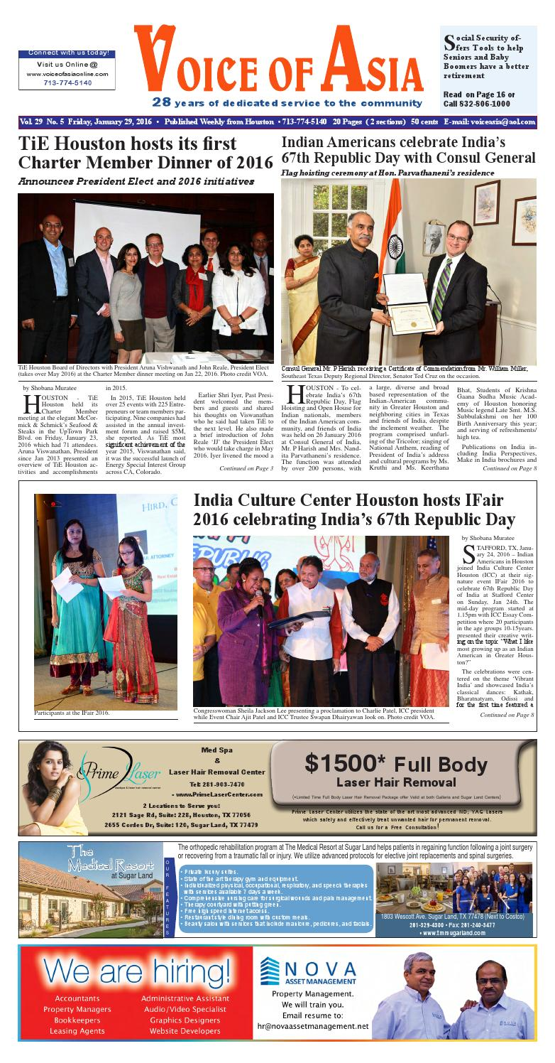 Voice of Asia E Paper January 29 2016 by VoiceOf Asia - issuu